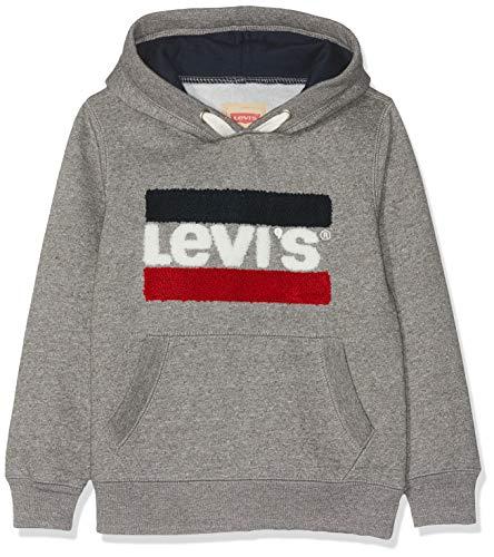 Levi's Kids Jungen Sweat Shirt NM15027 Sweatshirt, Grau (China Grey 20), 10 Jahre (Herstellergröße: 10A)