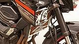 Kühlerverkleidung/Kühlerabdeckung Z800 2012>16 + orangefarbiges Schutzgitter