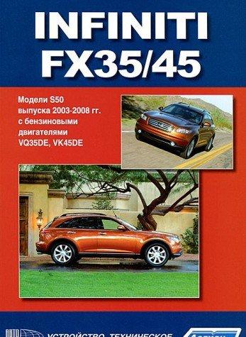 Infiniti FX35 / 45. Modeli S50 vypuska s 2003 g. s benzinovymi dvigatelyami. Rukovodstvo po ekspluatatsii, ustroystvo, tehnicheskoe obsluzhivanie i remont