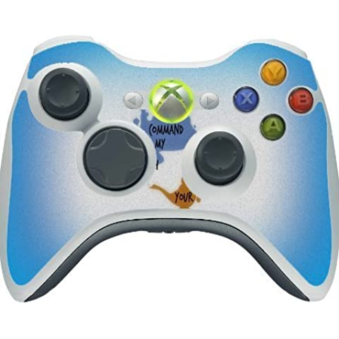 Your Wish Is My Command Quote Gienie's Lamp Design Print Image Xbox 360 Wireless Controller Vinyl Decal Sticker Skin by Trendy Accessories by Trendy