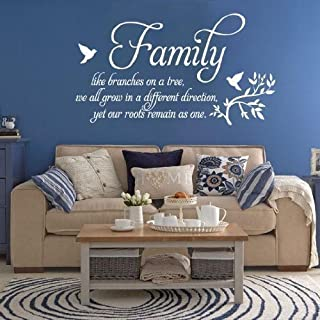 Family Quote Wall Art Decal Sticker (White)