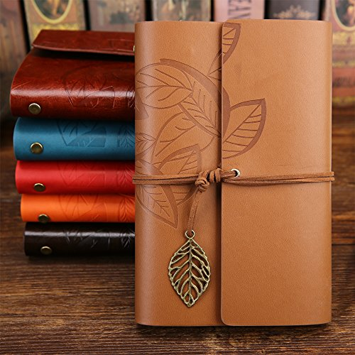 Zhi Jin Retro Mini Loose Leaf Notizbuch Pocket Leder nachfüllbar Binder Ringe, Filler Papier Tagebuch, khaki (6-ring-binder Mini)