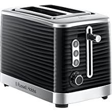 Russell Hobbs 24371 Inspire High Gloss Plastic Two Slice Toaster, Black