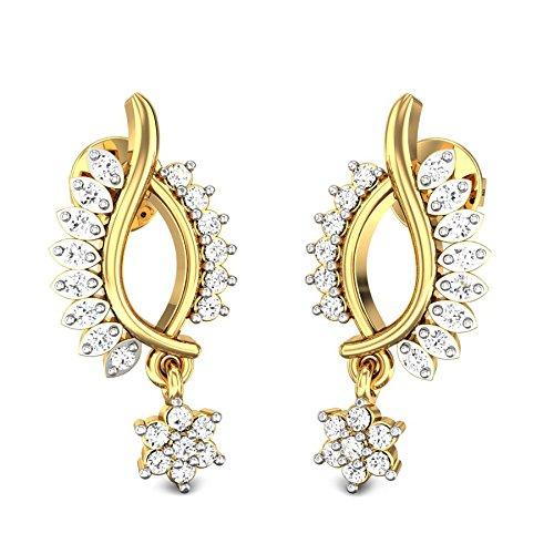 fe37444da5a95 Candere By Kalyan Jewellers 22KT Yellow Gold Drop Earrings for Women