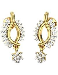 Candere By Kalyan Jewellers 22KT Yellow Gold Drop Earrings For Women