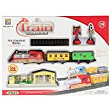 #9: Planet of Toys Mini Electric Deluxe Train Track Game Play Set - 24 Pieces Pack for Kids, Children