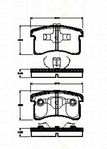 Preisvergleich Produktbild Triscan 8110 41007 Bremsbelagsatz,  Scheibenbremse - (4-teilig)