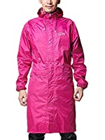 Icegrey Adult Lightweight PVC Long Size Hooded Raincoat Rose Red XL