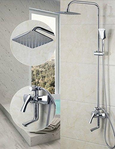 Gowe moderno cromato bagno miscelatore doccia a pioggia e braccio di controllo doccia rubinetto set (Controllo Arm Set)