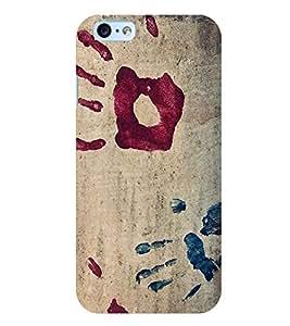Citydreamz Handprints/Creative Modern Art Hard Polycarbonate Designer Back Case Cover For Apple Iphone 4/4S