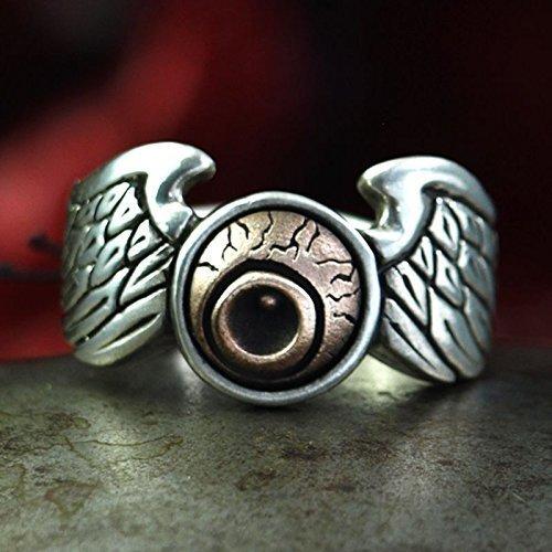 Biker Ring HAUS VON DER FLIEGERAUGEN - ausgefallener, feiner Silberring in Kombination mit Bronze für Männer und Frauen