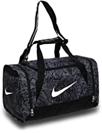 Nike Brasilia 6 Duffel Graphic Bolsa de Deporte, Hombre, Negro (Black / Black / White), S