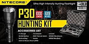 Nitecore P30Hunting Kit 1000Lumens 618mètres Kit complet