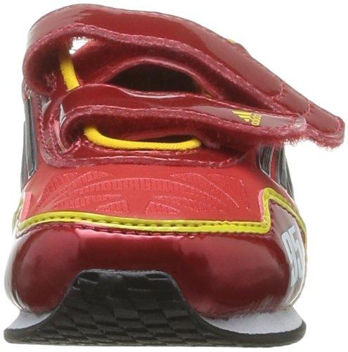 adidas Disney Cars 2 V2 Cf I Unisex Baby Sneaker Rot - Rouge (Vivid Red/Black/Ray Yellow)