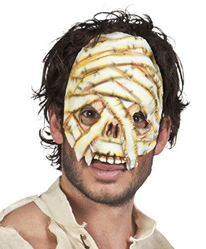 Halloweenia - Halloween Kostüm Latex Halbe Maske Mumie Erwachsenen Masken, (Wear Maske Party Gold Halb)