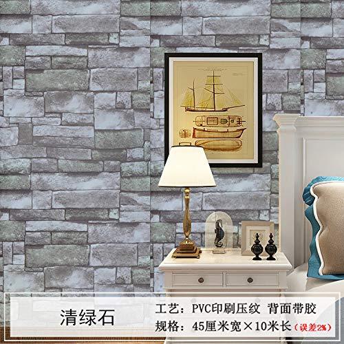 Backsteinmuster wasserdicht selbstklebende Tapete selbstklebende Tapete Backsteinimitat Aufkleber Schlafzimmer Wohnzimmer Hintergrundbild