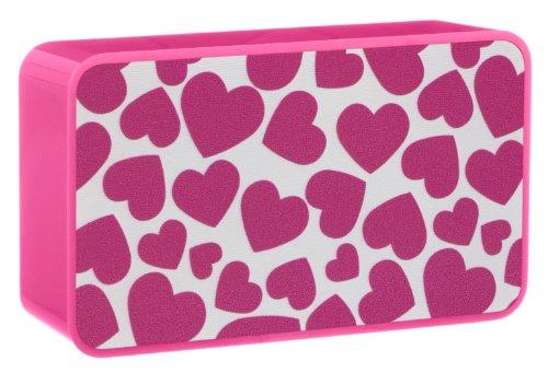 Trendz Tragbarer Mini Lautsprecher für iPhone/iPad/iPod/MP3 Player/Laptop - Herz Pink