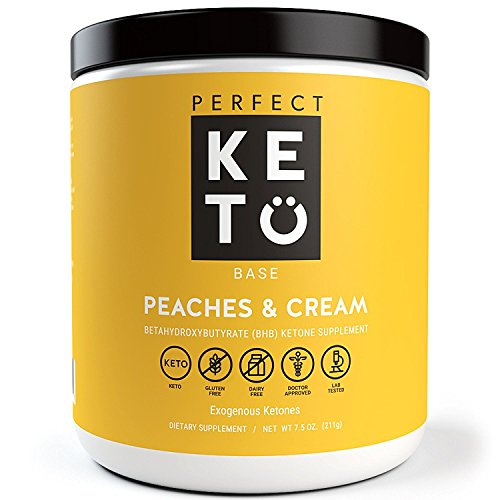 Perfect Keto Base Exogenous Ketone Supplement – Beta-Hydroxybutyrate (Bhb) Salts Developed To Burn Fat, Increase Energy And Kickstart Ketosis. Peaches & Cream Flavor (211G)