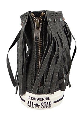 Converse Mandrini lavaggio acido Fringe 551500C Franzen Nero Nero Nero Garzetta Black Black Egret