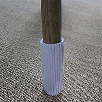 FJTHY Mesa Acolchada de Doble Punto Y Protección de la Cubierta del Pie de la Silla Antideslizante Paquete de 8 Reducción de Ruido en el Hogar,Blanco,Sección
