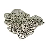 #3: Imported 30 Tibetan Silver Hollow Heart Victorian Charm Pendant Jewelry DIY Making