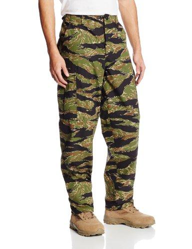 Tru-Spec Herren–Rip Stop BDU Hose Medium Vietnam Tiger Stripe (Tiger Vietnam Stripe)