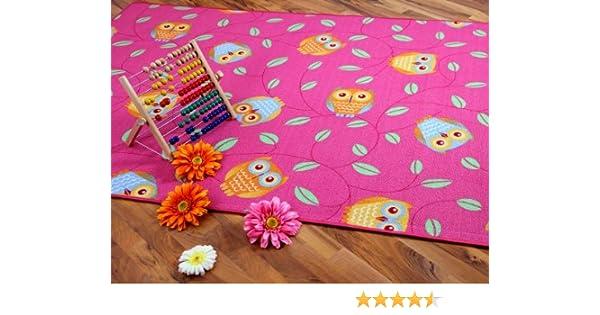 Snapstyle Tapis de Jeu pour Enfant Chouette en Rose 17 Tailles Disponibles