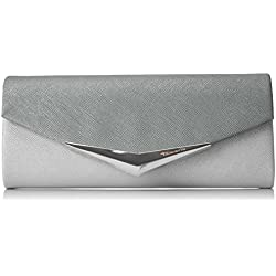 Tamaris Damen Tamara Clutch Bag, Silber (Silver), 5x11x26 cm