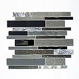 Fliesen Mosaik Mosaikfliese Mix Glas Stein glänzend Küche Bad WC 4mm Neu #625
