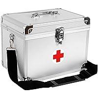 Songmics Medica Cassetta di Pronto Soccorso Scatola per Medicina Pillola Stoccaggio Astuccio Contenitore in Alluminio JBC361S