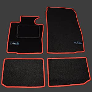 0432 neu fu matten mit logo f r mini countryman r60 alle modelle ab bj 2010 2017 rot amazon. Black Bedroom Furniture Sets. Home Design Ideas