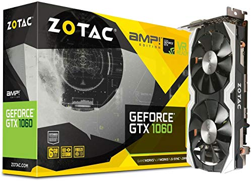 Zotac GeForce GTX 1060 AMP Edition ZT-P10600B-10M Grafikkarte (6GB GDDR5, 192-bit, HDMI 2.0b)
