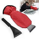 Grattoir à glace, Migimi fenêtre/neige pare-brise Grattoir avec gant et long manche, neige glace grattoir pour voiture