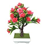#6: Pindia Decorative Artificial Red Flower Plant with Pot for Home and Office Decor (15x9x23, cms)
