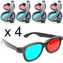 Lunettes 3D anaglyphes (rouge et bleu cyan), lunettes 3D pour télé ou  ordinateur 6b5ee3d0c9aa