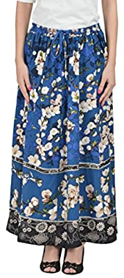 COTTON BREEZE Women's Cotton Ombre Skirt (FP584, Navy, Free Size)