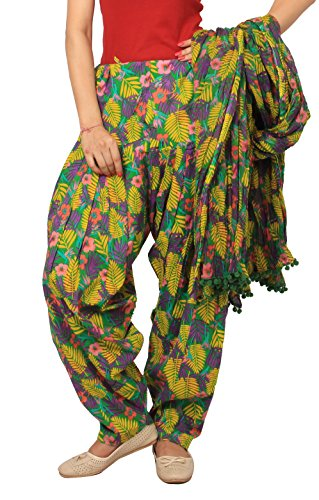 Rama Women\'s Cotton MultiFloral Print Patiala dupatta set.