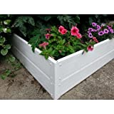 Handy Bed 4 x 4 Stack-able, White, Vinyl, Raised Garden Bed