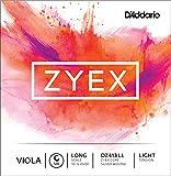 D\'Addario Bowed Corde seule (Sol) pour alto D\'Addario Zyex, «Long Scale», tension Light