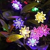 Spritech (TM) hermoso girasol LED cadena Luz al aire libre para jardín valla patio fiesta de Navidad boda Festival Decoración
