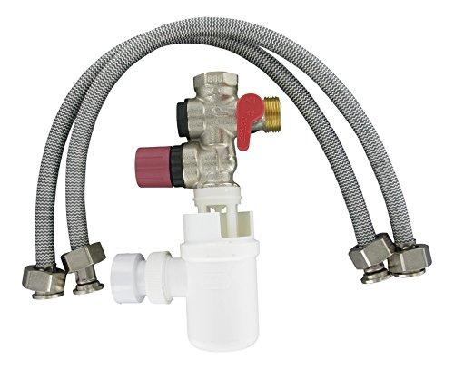 Comap-Sicherheitsgruppe für Durchlauferhitzer mit siphon/2 Schläuche für die Wasserzufuhr 3/4 Zoll