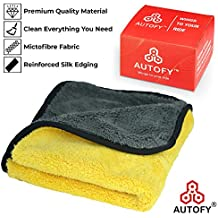 Autofy Multipurpose Microfiber Cleaning Towel Cloth 800 GSM Highly Absorbent Dust Towels For All Vehicles Bikes Cars Glass Kitchens (40cm x 40cm Multicolour)