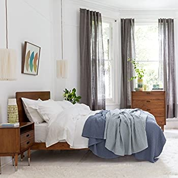 100% Pure French Linen Bed Linen   Fitted Sheet (White, Double)