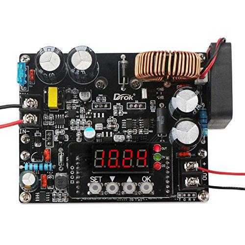 Droking Gleichstrom-Abwärtswandler, DC-DC Step-Down-Spannung Regler 10V-75V 60V 24V bis 060V 12V 5V 12A Digital Control Volt Reducer Board Netzteilmodul mit LED-Anzeige & CC CV-Modus - Anzeigen Oz