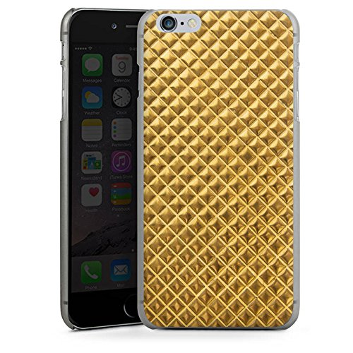 Apple iPhone X Silikon Hülle Case Schutzhülle Nieten Gold Muster Hard Case anthrazit-klar