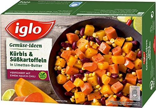 Iglo - Gemüse-Ideen Kürbis & Süßkartoffeln in Limetten-Butter TK - 400g