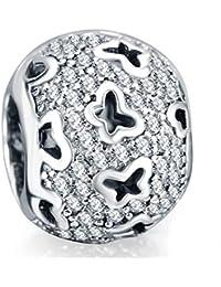 Zxx Jewelry S925 Silver Charm Bracelet Joyas de Abalorios Hollow Butterfly Christmas Memorial Day Día de la Madre Regalo de cumpleaños- Regalo en Caja