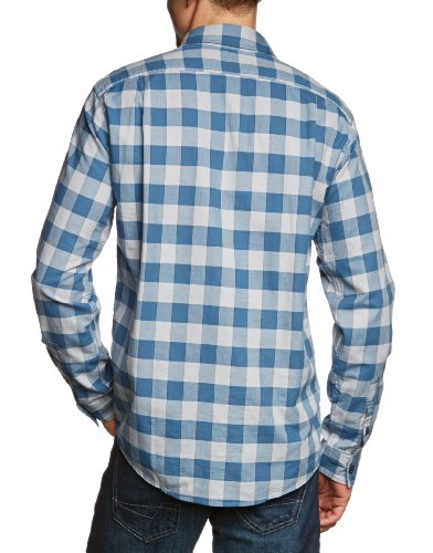 Eddie Bauer Herren Freizeithemd 11201357 Blau (blau karo)