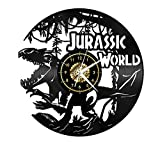 Stile Europeo Vintage Vinile Dinosauro Giurassico Disco In Vinile Orologio Da Parete 3D Incisione Laser Moda Per La Casa Art Déco Silenziosa Puntualità