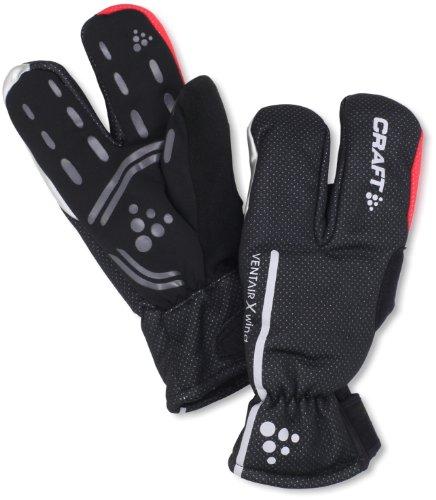 Craft - Guanti tre dita impermeabili, unisex, nero (nero), L